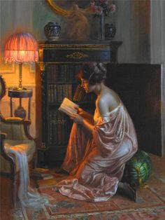 Kai Fine Art is an art website, shows painting and illustration works all over the world. Reading Art, Woman Reading, People Reading, Books To Read For Women, Delphine, Female Art, Art History, Book Art, Art Photography