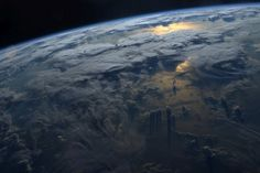 Sunset over Earth. By Jeff Williams—NASA