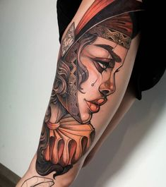 Traditional Tattoo Woman Face, Traditional Tattoo Flash, Tattoo Snake, Neo Tattoo, Ink Master Tattoos, Body Art Tattoos, Portrait Tattoos, Hand Tattoos, Neo Traditional Art