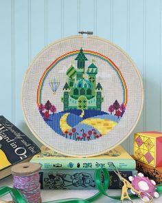 Emerald City is the title of this cross stitch pattern from Satsuma Street.