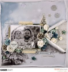 Christmas layout for Kaisercraft blog challenge with Frosted collection