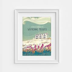 Wuthering Heigths illustrated poster - Emily Bronte - literary print (12,60 x 18,10)