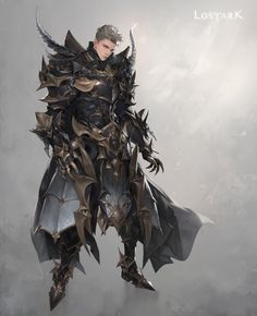 Game Character Design, Fantasy Character Design, Character Concept, Character Art, Fantasy Art Men, Fantasy Armor, Fantasy Weapons, Dragon Knight, Knight Art
