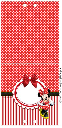 Minnie with Red Stripes: Free Printable Candy Bar Labels. Scrapbook Da Disney, Mickey E Minnie Mouse, Candy Bar Labels, Disney Cookies, Background Images For Editing, Red Stripes, Disneyland, Free Printables, Birthday Parties