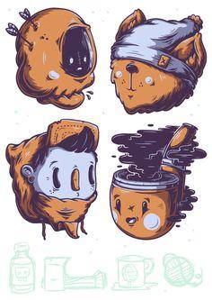 Sticker Pack. by Christi du Toit, via Behance