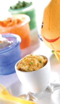 Purée de poisson patates douces et pois; Temps de préparation :5 min Temps de cuisson :20 min Portions :3