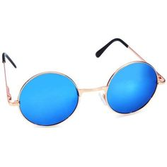 e5db6ac58f Luxury Colorful Lenses Hippie Shades Hippy Vintage Round Sunglasses ( 4.73)  ❤ liked on Polyvore