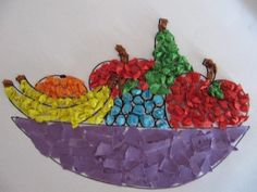 Nutrition for a better life Fruit Crafts, Food Crafts, Paper Crafts, Toddler Crafts, Diy Crafts For Kids, Art For Kids, Preschool Crafts, Preschool Activities, Fruit Of The Spirit