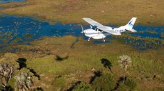 With a flying safari, you can enjoy the thrill of exploring the heart of Africa at low altitude, grasping its wild nature and boundless horizons. You can easily move from one lodge or camp to the next, saving time, but the most unique aspect is that, above the air, you get a different viewpoint of uncommon landscapes.  © Wilderness Air | Botswana
