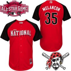 Men's National League Pittsburgh Pirates #35 Mark Melancon 2015 MLB All-Star Red Jersey