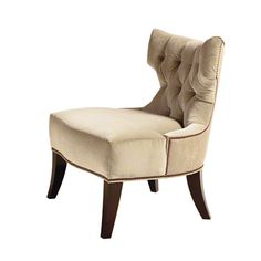 Baker Furniture : Plaza Lounge Chair - 6371.  This might be the piece that sets the tone for my eldest daughter's redesigned room.  She doesn't know that it's called this, but a modern Hollywood Regency style is where she's leaning.  We saw a pair in a 2nd hand store in Baltimore for about 70% off full retail.  They'll do as is for now, but recovered, they'd be perfect as reading chairs in each of our bedrooms now and seating for her first apartment in NYC years from now (the girl has a…