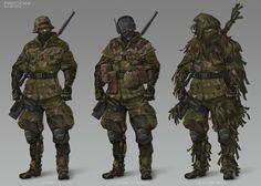 Metal Gear Online Concept Art, Jordan Lamarre-Wan on ArtStation at https://www.artstation.com/artwork/r0wEa