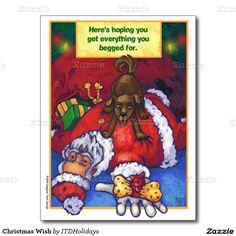 Christmas Wish Postcard