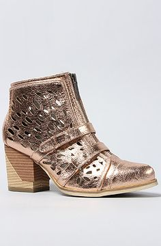 Rose Gold Ankle Boots / Sole Boutique