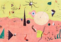 Joan Miró: Brush away the blues Joan Miro Paintings, Otaku, Art Lessons For Kids, Equine Art, Arts And Entertainment, Famous Artists, Abstract Art, Abstract Landscape, Art History