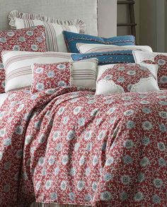 the bandera bedding collection is warm and welcoming it combines a color pattern of red