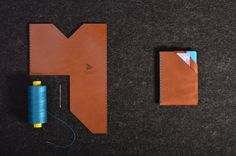 Simply a wallet for your cards and cash. Choose your leather, thread and personalise it.