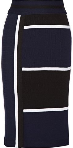 Jonathan Simkhai Ribbed stretch-knit skirt