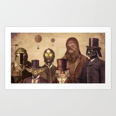 Canadian illustrator terry fan, take some of the most popular characters from the original trilogy of star wars movies and give them a steampunk twist. Star Wars Fan Art, Flynn Rider, Starwars, Tableau Star Wars, Cuadros Star Wars, Terry Fan, Fanart, Canvas Art, Canvas Prints
