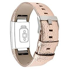 "Amazon.com : Henoda Genuine Leather Bands for Fitbit Charge 2, Charge 2 Strap Style (Rose Gold, Fit wrist size 6"" - 8.5"") : Sports & Outdoors"