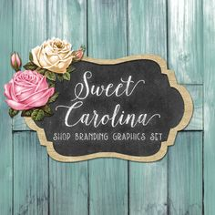 rustic wood shop branding banners avatar icons business card logo label more 12 premade graphics files sweet carolina