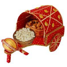 Nariyal with Dryfruit Rath :,Indian Gifts Portal