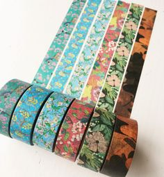 Oriental Collection ver.2 - Pack of 6 Floral Washi Tape Set