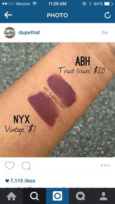 Dupe: NYX Vintage - ABH Trust Issues