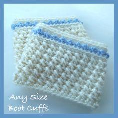 Crochet Any Size Boot Cuffs ~ free pattern