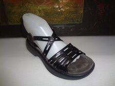 Dansko Black Patent Leather Strappy Open Toe Sandals. Size Women's EU 37 (6-6.5) #Dansko #Strappy