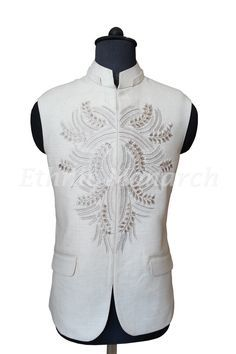 Royal White Nehru Jacket