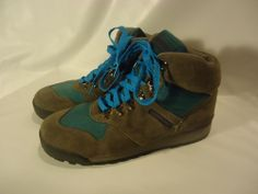 VINTAGE 1994 Women's Merrell LAZER Hiking Boots Air Cusion Leather  sz. 10-NICE!