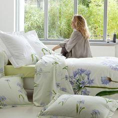 Agapanthe - Linge de lit à fleurs. chambre Tradition des Vosges