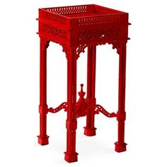 Check out this item at One Kings Lane! Madison Side Table, Red