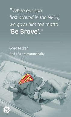 Greg Moser is one of many who has experienced prematurity and is sharing his words of wisdom and inspiration for others currently going through it. World Prematurity Day, Tiny Miracles, Healthcare News, Preemies, Pediatric Nursing, Babies R, Premature Baby, General Electric, Nicu