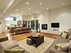 Living Area Design Beige living room idea from a real Australian home – Living Area photo … Beige Living Rooms, Coastal Living Rooms, Living Room White, Beautiful Living Rooms, Living Room With Fireplace, Small Living Rooms, Living Room Sofa, Rugs In Living Room, Living Area