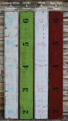 Wooden Chic Growth Chart Ruler  Beachy Weathered by LightFilled, $67.99