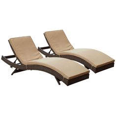 Peer Chaise Outdoor Patio Set of 2 Brown Mocha