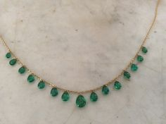 Emerald drop necklace from my collection