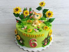 children's pie with a kitten детский торт с котенком Cakes, Desserts, Tailgate Desserts, Deserts, Cake Makers, Kuchen, Cake, Postres, Pastries