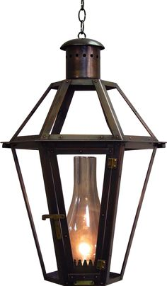 Six-Sided on Hanging Chain or Stem | Copper Lights | Bevolo Gas & Electric Lighting