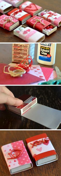 Cute Matchboxes with M&M Candies | DIY Valentine Gifts for Him | DIY Valentine Gifts for Boyfriend
