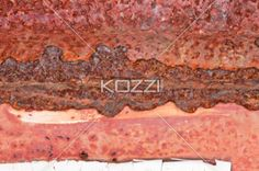 Corroded Rust Texture - A closeup texture with a corroded line running horizontally through it.