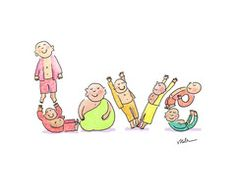 Buddha Doodles Tote: LOVE   BuddhaDoodles