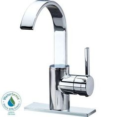 Delta Mandolin 4 in. Centerset Single-Handle High Arc Bathroom Faucet in Chrome $99
