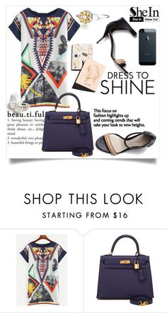 """SheIn"" by ljabii ❤ liked on Polyvore featuring 3.1 Phillip Lim, Hermès and Garance Doré"