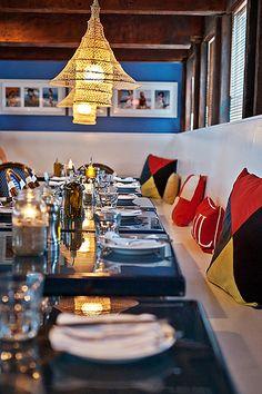 #nauticalandnice #cabodelsol Navy Beach Restaurant, Montauk, NY #karastanlivebeautifully