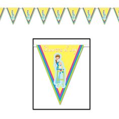 Baby Shower Showers Of Joy Pennant Banner (12ct)