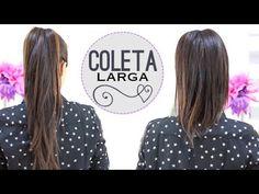 Truco: cómo conseguir una coleta más larga. How to achieve a large ponytail.