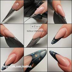 Stick On Nails, Modern Nails, Nail Art Brushes, Nail Art Hacks, Nail Tutorials, Mani Pedi, Stiletto Nails, French Nails, Nail Artist
